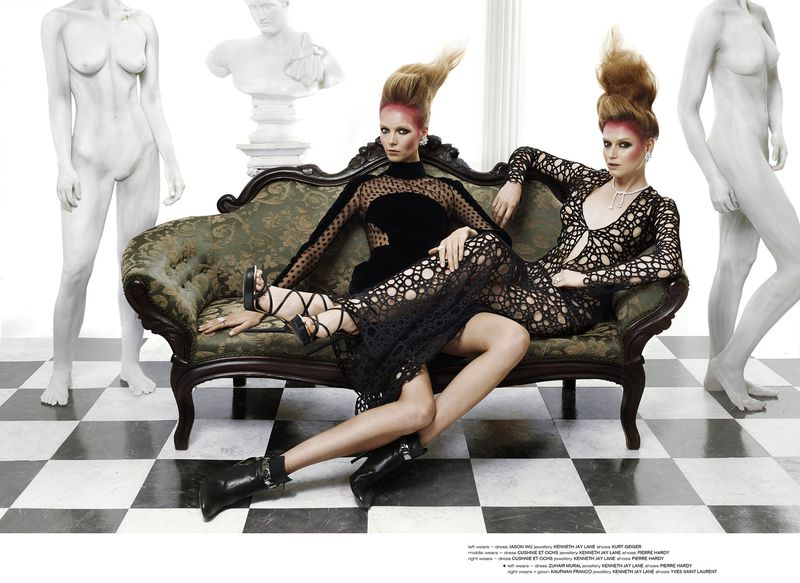 Kristy Kaurova and Cate Underwood for Various Editorials October 2013 advise dress in summer in 2019