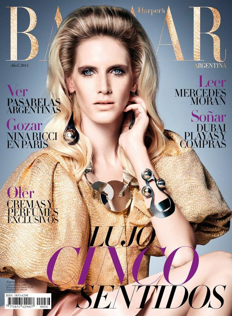 Harper 39 s bazaar argentina april 2014 cover harper 39 s for Bazaar argentina