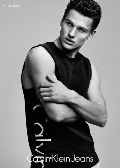 Simon Nessman - Ph: Alasdair McLellan for Calvin Klein Jeans Denim Series 2015