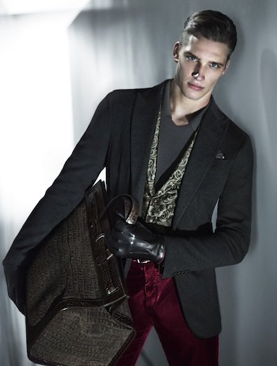 Florian Van Bael - Ph: Mert Alas and Marcus Piggot for Giorgio Armani F/W 13