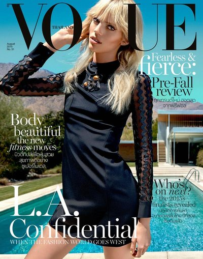 Devon Windsor - Ph: Yu Tsai for Vogue Thailand August 2015 Cover