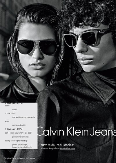 Julia van Os - Ph: Mario Sorrenti for Calvin Klein F/W 15