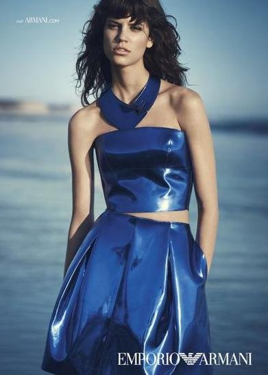 Antonina Petkovic - Ph: Boo George for Emporio Armani S/S 15
