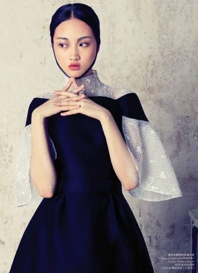 Jing Wen - Ph: Stockton Johnson for Elle China