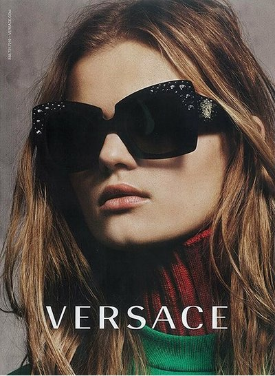 Kate Grigorieva - Ph: for Versace Eyewear F/W 15
