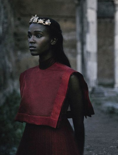 Leila Nda - Ph: Fabrizio Ferri for Vogue Italia September 2015
