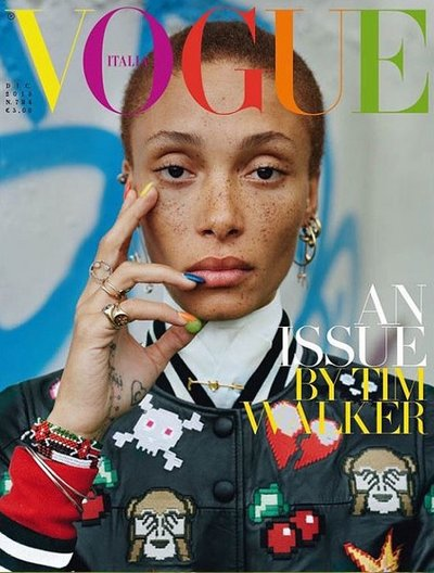 Adwoa Aboah - Ph: Tim Walker for Vogue Italia December 2015 Cover