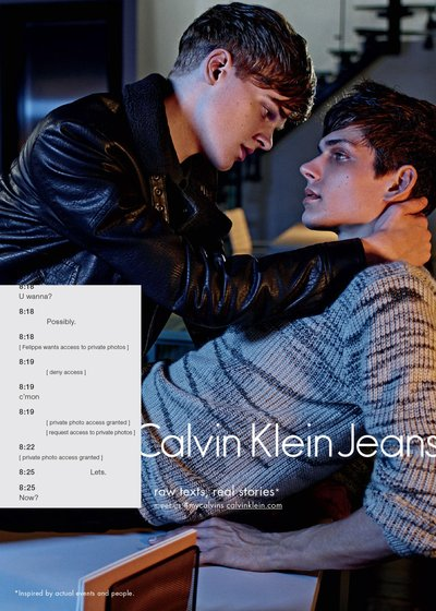 Reid Rohling - Ph: Mario Sorrenti for Calvin Klein Jeans Fall 2015