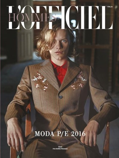 Ryan Keating - Ph: Robbie Fimmano for L'Officiel Hommes Italia S/S 16