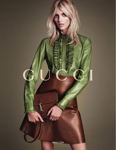 Anja Rubik - Ph. Mert & Marcus for Gucci