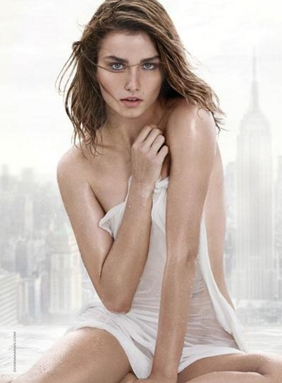 Andreea Diaconu - Ph: Peter Lindbergh for Donna Karan Liquid Cashmere White Fragrance 2016