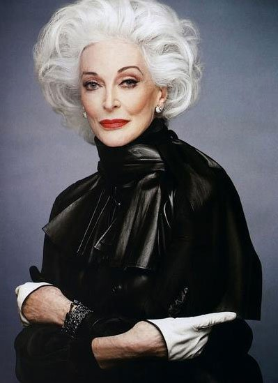 Carmen Dell'Orefice - Rouge F/W 12 campaign