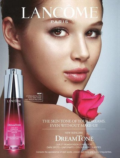 Anais Pouliot - Photo: Mario Testino for Lancome Paris