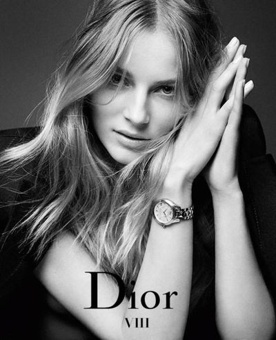 Ieva Laguna - Ph: Patrick Demarchelier for Dior Watch Campaign 2014