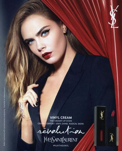Cara Delevingne - Ph: for YSL Beauty August 2016