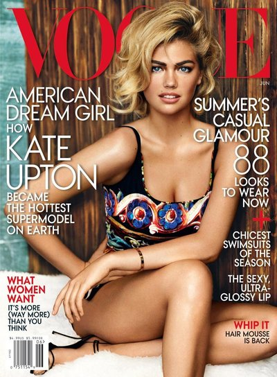 Kate Upton - American Vogue June 2013 Cover by Mario Testino