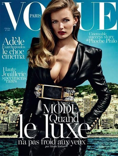 Edita Vilkeviciute - Ph. Mario Testino for Vogue Paris