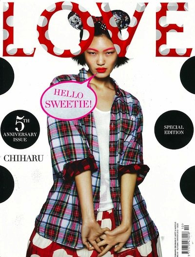 Chiharu Okunugi - Ph: Mert Alas and Marcus Piggot for Love Magazine F/W 13 Cover