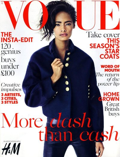 Malaika Firth - British Vogue November Supplement Cover 2013 by Nick Dorey