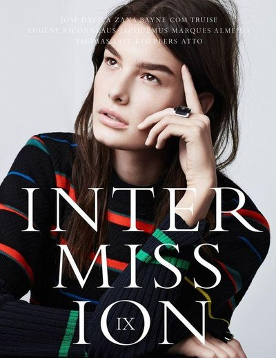 Ophelie Guillermand - Intermission #9 S/S 14 Cover by Paul Wetherell