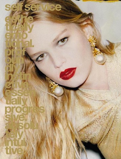 Anna Ewers - Ph. Ezra Petronio for Self Service S/S 16 Cover