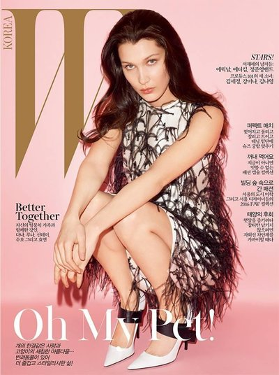 Bella Hadid - Ph: Terry Richardson for W Korea May 2016