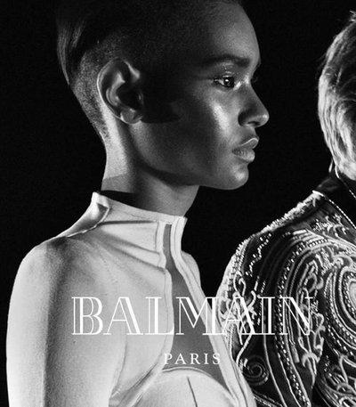 Ysaunny Brito - Ph: Steven Klein for Balmain F/W 16