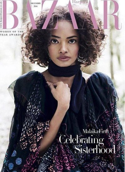 Malaika Firth - Ph: Regan Cameron for Harper's Bazaar UK December 2016
