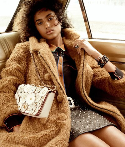 Imaan Hammam - Ph. Steven Meisel for Coach Pre Fall 2016