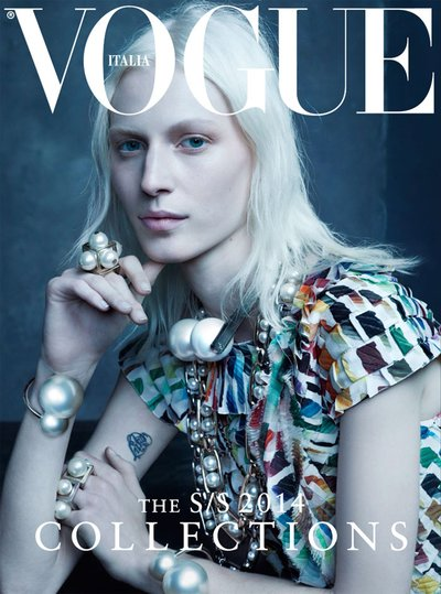 Julia Nobis - Ph: Steven Meisel for Vogue Italia January 2014