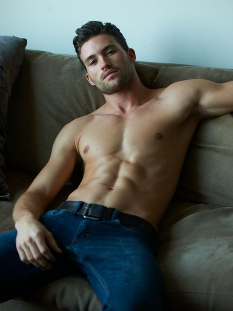 hot naked guys on a chair