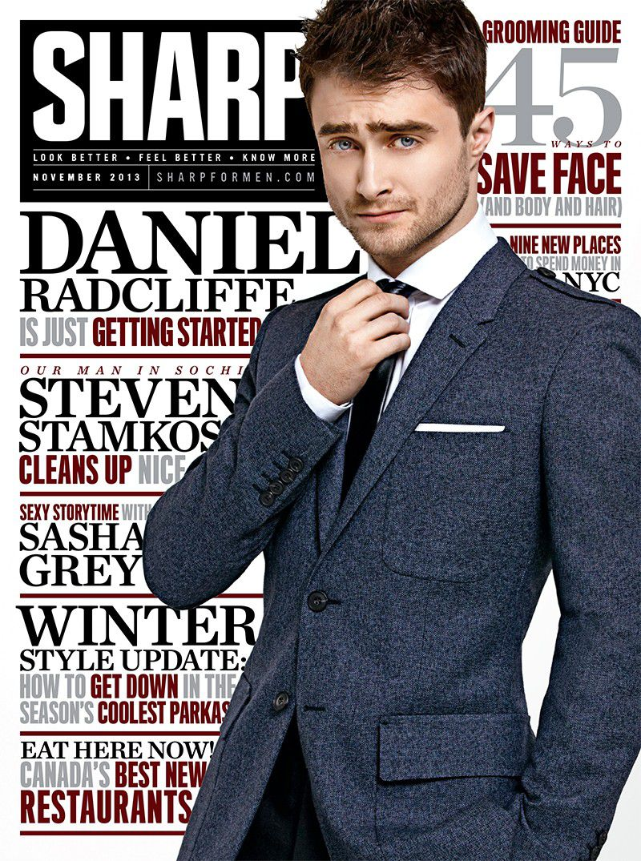 Sharp for Men Magazine November 2013 Cover with Daniel Radcliffe ...