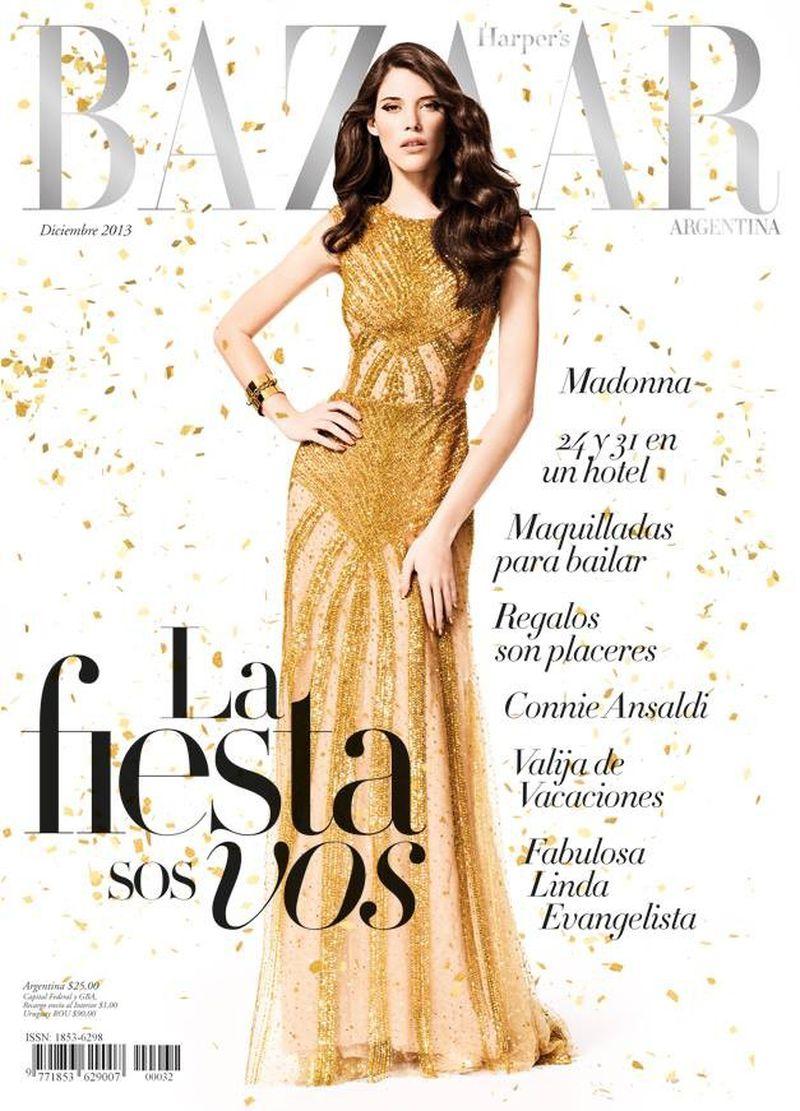 Harper 39 s bazaar argentina december 2013 cover harper 39 s for Bazaar argentina