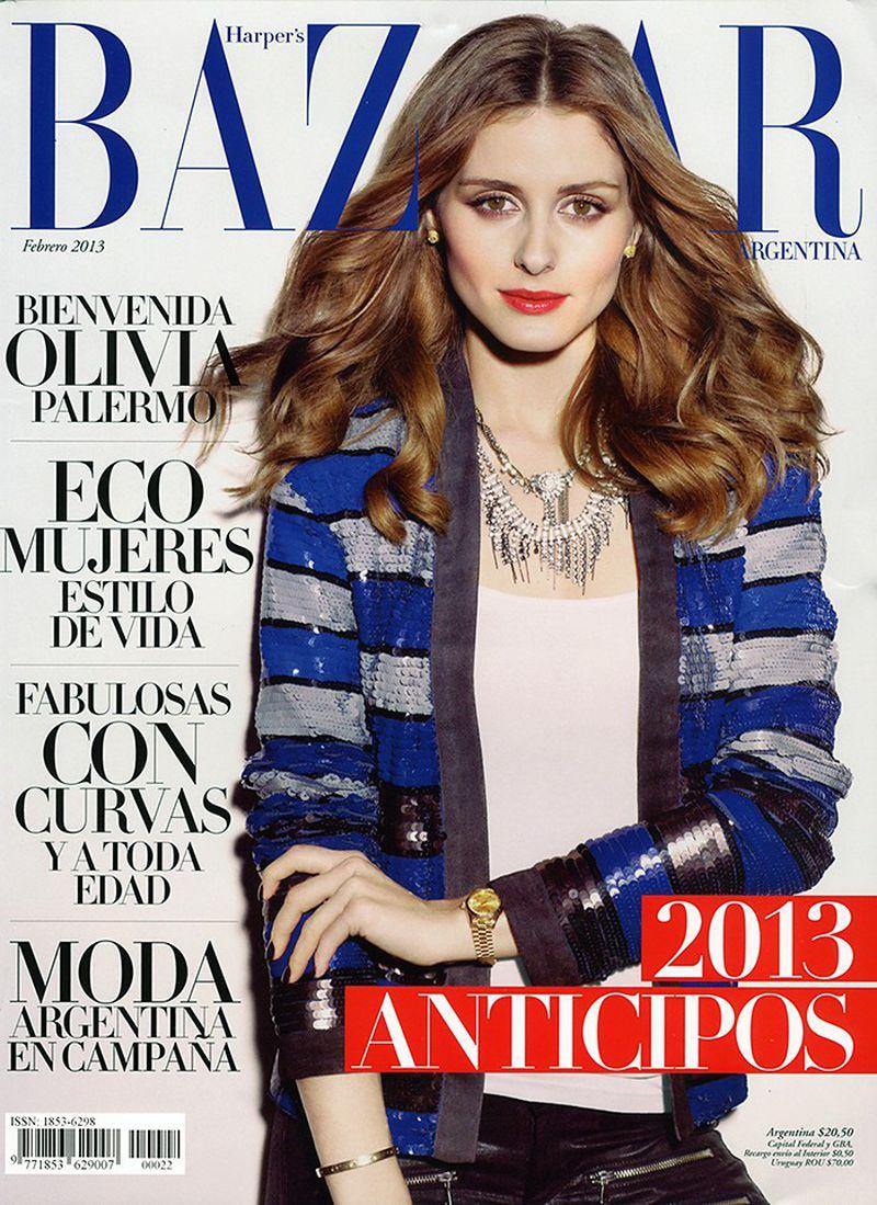 Harper 39 s bazaar argentina february 2013 cover harper 39 s for Bazaar argentina