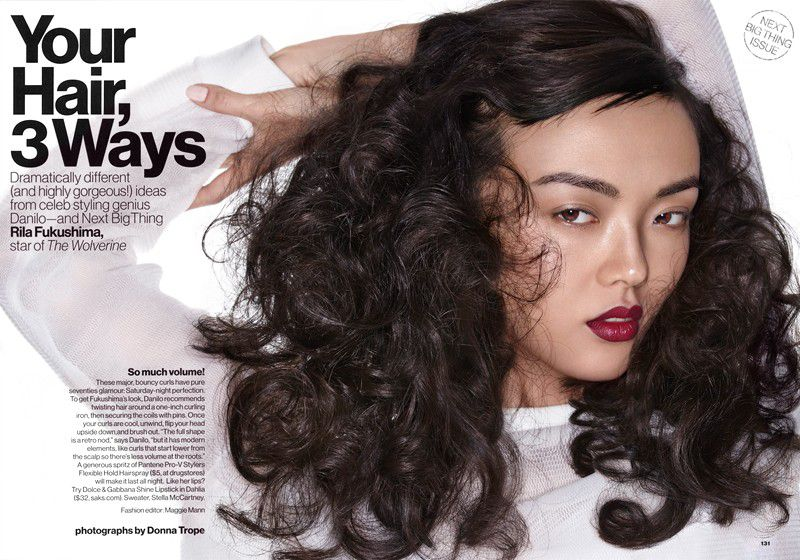 your hair, 3 ways (glamour magazine u.s.)