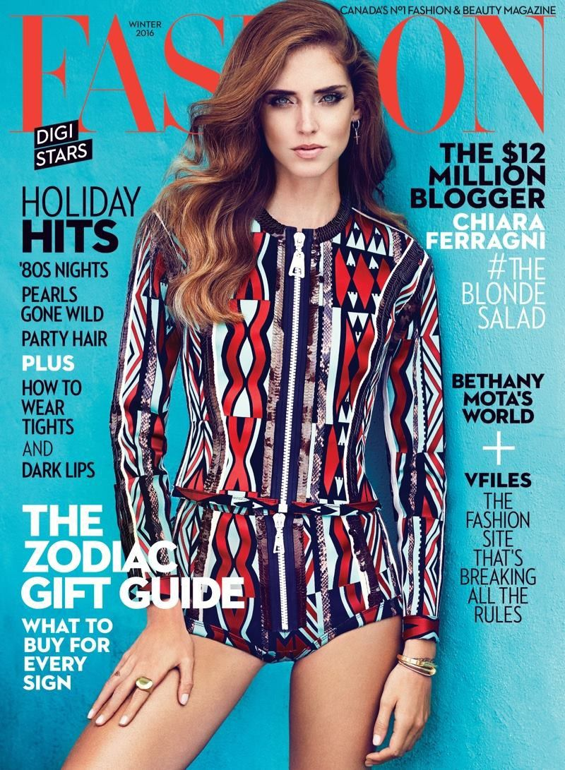 Fashion Magazines Look To Familiar Faces For Cover Models: Fashion Magazine (Canada) Winter 2015-2016 Cover (Fashion