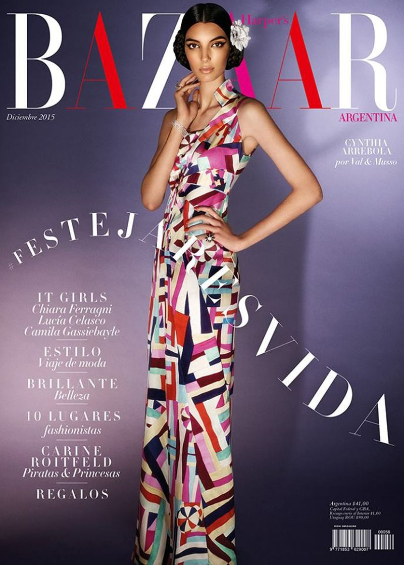 Harper 39 s bazaar argentina december 2015 magazine cover for Bazaar argentina