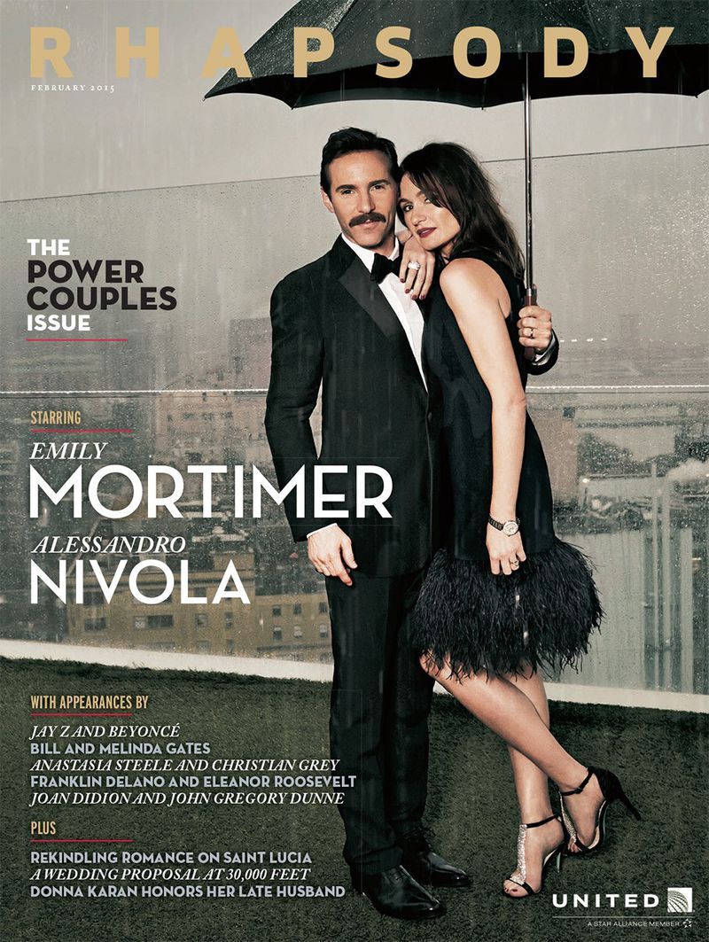 Rhapsody Magazine featuring Emily Mortimer and Alessandro