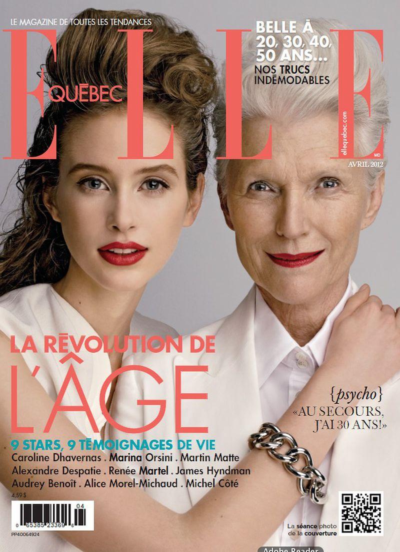 Elle Quebec April 2012 Cover Elle Quebec