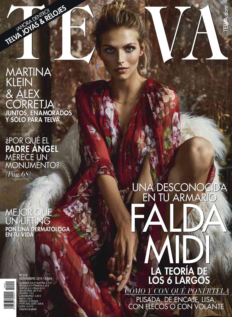 6915cc26e9 Telva November 2015 Cover (Telva)