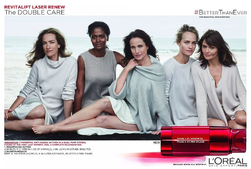 L'Oreal Revitalift Laser Global Campaign 2016 by Peter Lindbergh (L'Oreal)