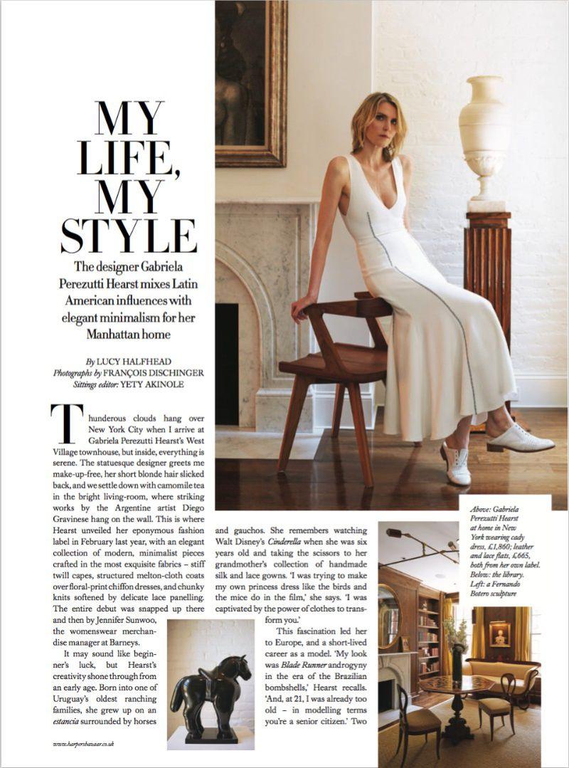 My Life My Style Gabriela Perezutti Hearst Harper S Bazaar Uk