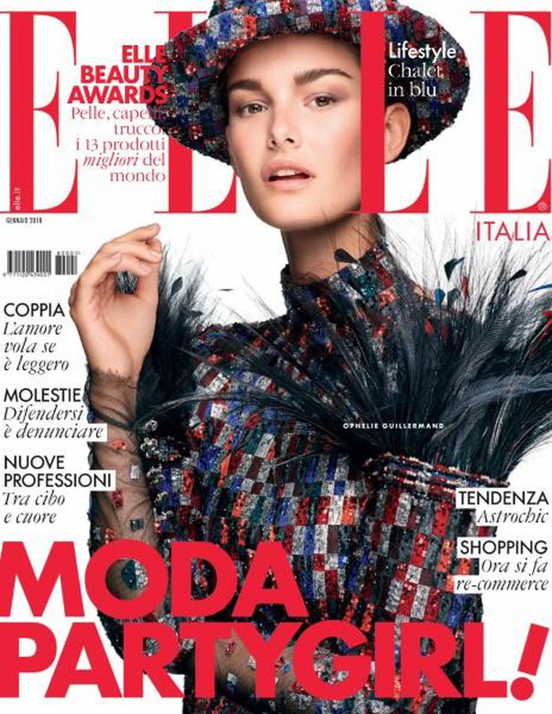 Elle italia january 2018 cover elle italia for Elle italia