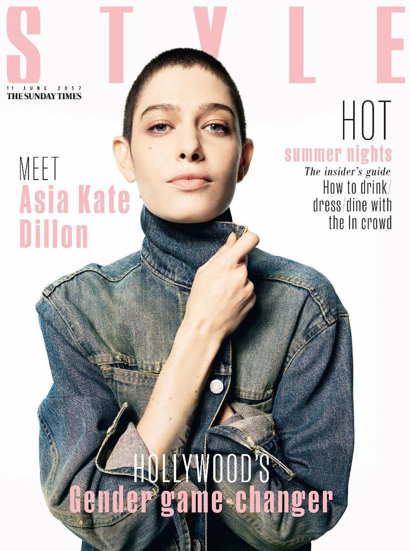 Sunday Times Style Magazine June 2017 Cover With Asia Kate Dillon Sunday Times Style Magazine