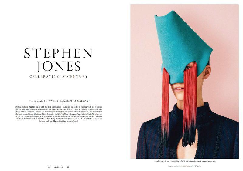 46de566fcfd Stephen Jones - Celebrating a Century (Luncheon Magazine)