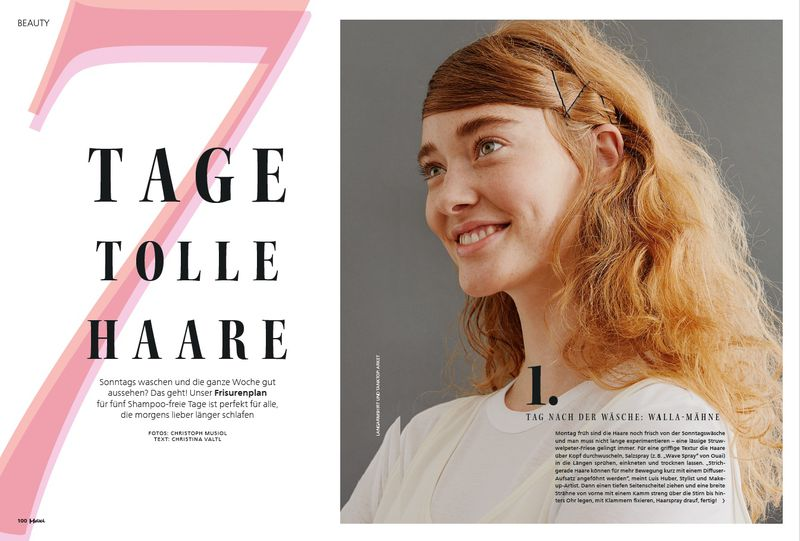 7 Tage Tolle Haare For Maxi Germany Various Editorials