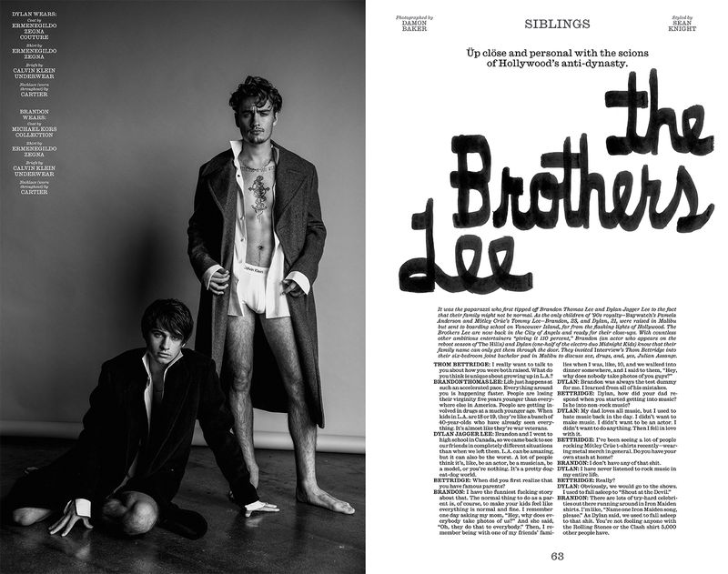 The Brothers Lee (Interview Magazine)