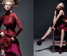 Aymeline takes the throne for Vogue Japan