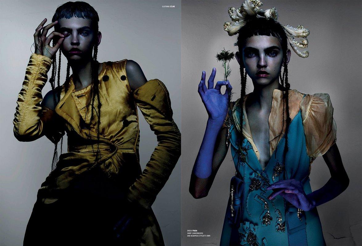 Molly Bair magically captivates in V Magazine