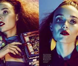 Harper's Bazaar Takes On Bold Color